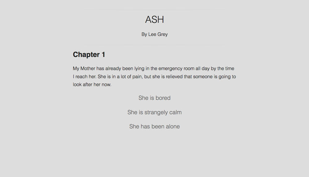 Ash: start