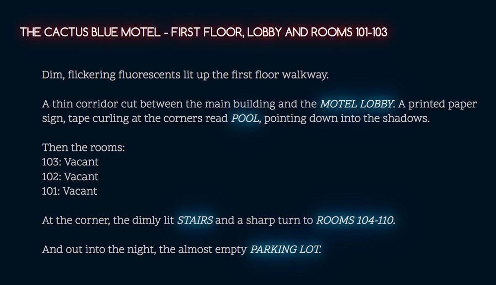 Cactus Blue Motel: first floor