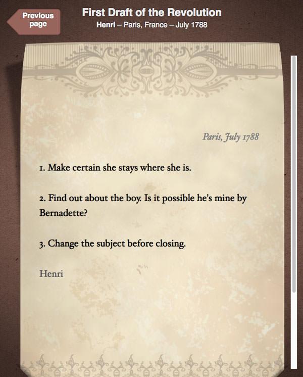 First Draft of the Revolution: Henri