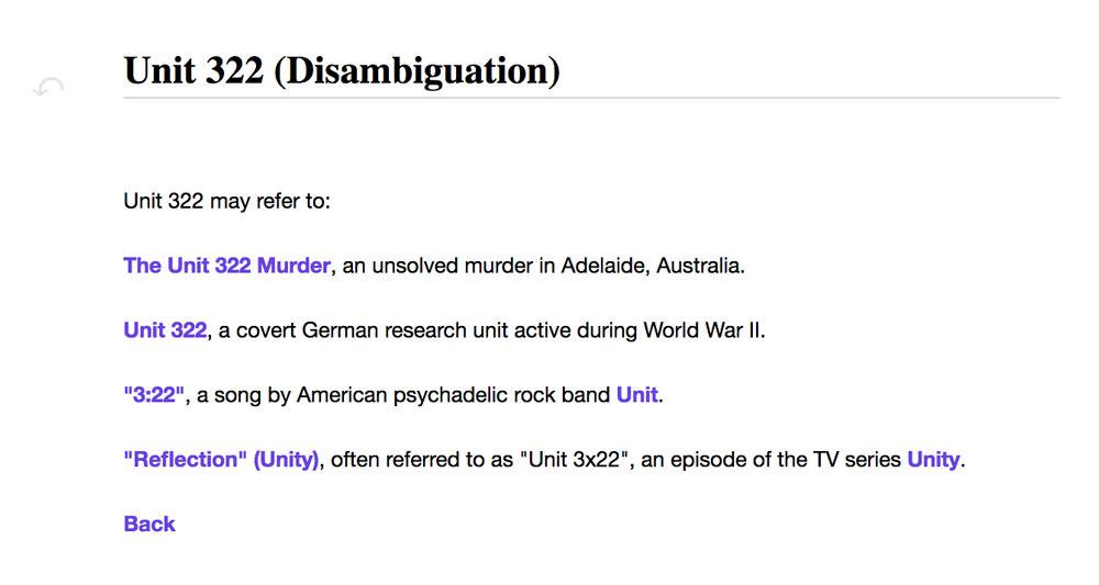 Unit 322 (Disambiguation)