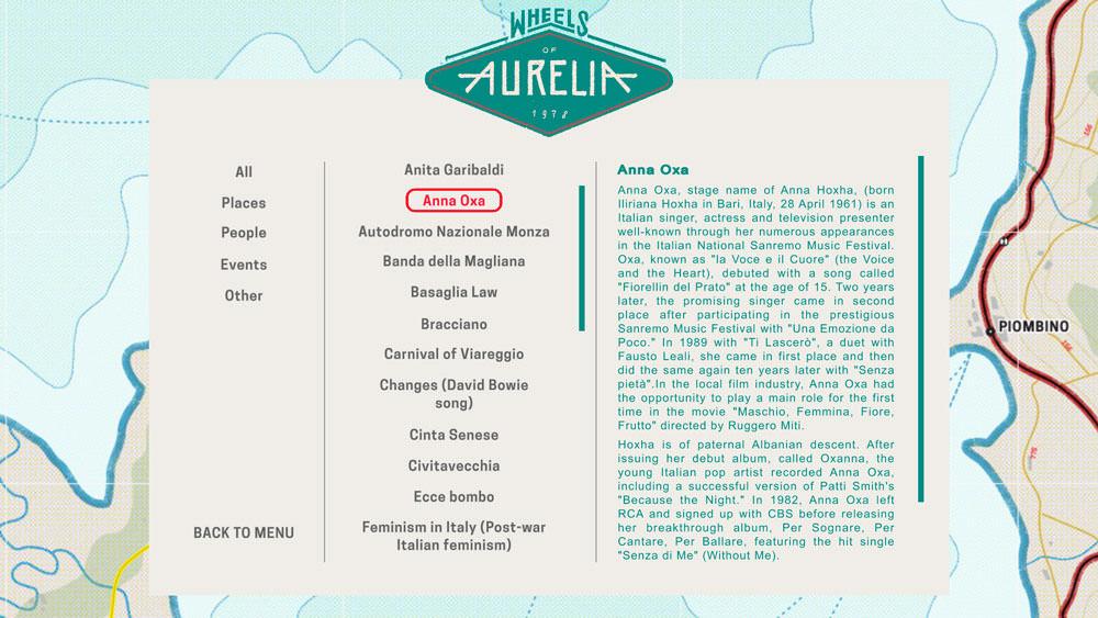 Wheels of Aurelia: wheelspedia